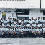Estudiantes del colegio El Señor de los Milagros
