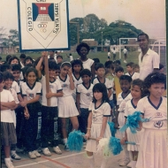 Niños del colegio Santa Isabel